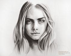Cara Delevingne by komorinight.deviantart.com on @deviantART Doodle Paint, Cara Delevingne, Illustration Art, Illustrations, Of Hair, Celebrities, Drawings, Painting, Drawing Ideas