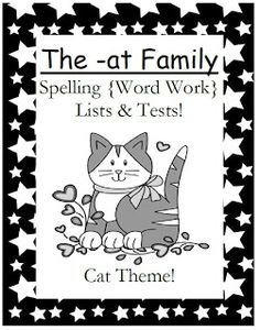 Classroom Freebies: Fern Smith's Spelling Lists and Tests For The -at Family $0