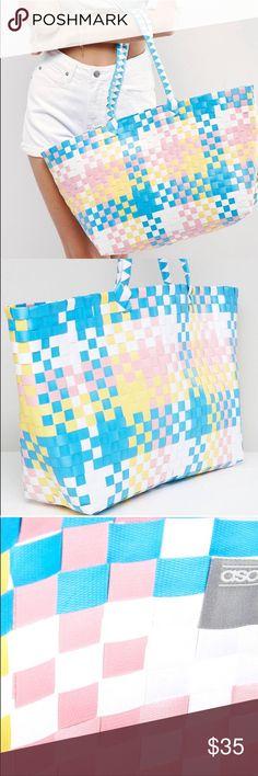 Asos beach bag Beautiful Pastel colors beach bag. ASOS Bags