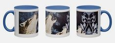 This item is unavailable Shipping Supplies, Mug Designs, Picture Show, Original Artwork, How To Find Out, Wolf, Hand Painted, Etsy Shop, Mugs