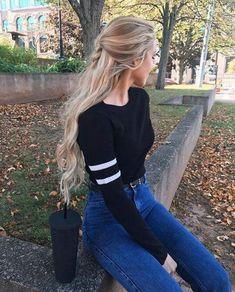 25 Modern Simple Fresh Outfits Ideas For Summer - Womens Fashion - Fashionable Fashion Images, Look Fashion, Teen Fashion, Autumn Fashion, Fashion Outfits, Fashion Trends, Fashion Hair, Vogue Fashion, India Fashion