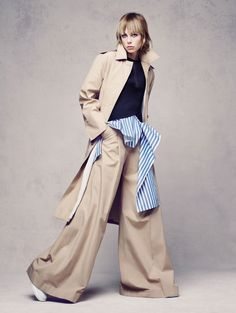 awesome Edie Campbell does oversized style for Vogue China December 2015 by Sølve Sundsbø [fashion]