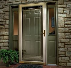 Adding A Larson Storm Door With Decorative Glass Detailing