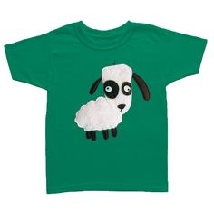 mi cielo x Matthew Langille - Sheep – Kelly Green Toddler T-Shirt – Boys or Girls by micielomicielo on Etsy Thankful For Friends, Handmade Design, Kelly Green, Unique Outfits, Memorable Gifts, Baby Bodysuit, Trees To Plant, Hand Stitching, Sheep