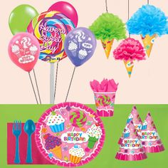 Birthday Sweet shop birthday party theme!  #5050factoryoutlet #sweetshop #party #Birthday #love #pink #lollipop #sweets #treats #love