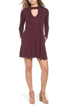 Free shipping and returns on Socialite Mock Neck Knit Shift Dress at Nordstrom.com. Soft and swingy, this knit shift dress has a keyhole cutout just below an on-trend mock neckline. Slim-fit sleeves keep you warm while hidden pockets let you stash essentials.