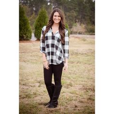 Checked Into Fall-Black