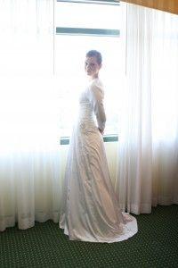 Beautiful tznius wedding gown!