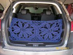 Crochet a cargo net to fully accept Momma Van status