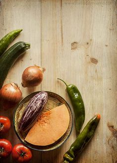 Ingredientes del pisto andaluz. El invitado de invierno