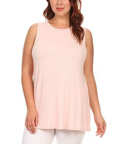 Another great find on #zulily! Light Pink Swing Tank - Plus #zulilyfinds