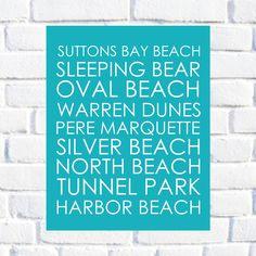 Beach Decor - Customizable Beach Print  - 8x10 Print. $29.00, via Etsy.