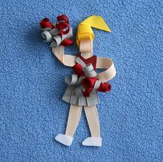 Cheerleader, Sport Fan Ribbon Sculpture Hair Clip Bow. $6.50, via Etsy.