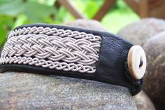 Lapland bracelet -The craft of pewter embroidery was developed by the Sami people who live in mostly in Northern Sweden, Norway, Finland and the Kola Penninsula in Russia.