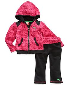 Puma Baby Set, Baby Girls 2-Piece French Terry Yoga Hoodie and Pants was $48 now $28 comes in 2 different colors