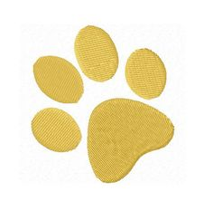 paw print machine embroidery design EM1110090 by FunStitch on Etsy, $4.00