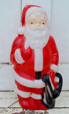Outdoor Light Up Santa Vintage toy soldier nutcracker plastic blow mold light up yard small santa claus plastic blow mold vintage empire red white working light up indoor outdoor winter christmas decoration 1960s workwithnaturefo