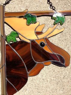 Image result for stained glass moose patterns #StainedGlasses