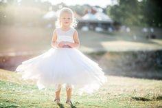 A-Line/Princess Jewel Tea-length Sash Back Hole Tulle Lace Sleeveless Flower Girl Dress Flower Girl Dress