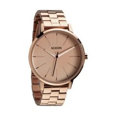 The Nixon Kensington girls watch is comes in an all rose gold stainless steel case for a bold look that compliments any outfit. This medium sized Nixon watch runs on 3 hand Japanese quartz movement and has a round face for a clean no-nonsense look that wi Kensington, Rose Gold Watches, Looks Vintage, Mode Style, Stainless Steel Bracelet, Watches For Men, Nixon Watches, Jewelry Accessories, Gold Jewelry