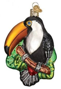 Toucan Bird Ornament Old World Christmas New Blown Glass Glitter Accents Bird Ornaments, Christmas Ornaments, Old World Christmas, Jungle Animals, Catfish, Wildlife, Blown Glass, Glitter, Decoration