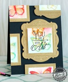 Butterfly Gallery Card by Betsy Veldman for Papertrey Ink (December 2014)