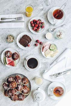 Breakfast at the Lydmar Hotel.