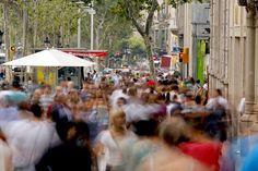 Paseo de Gracia à Barcelone, Catalogne (Espagne)