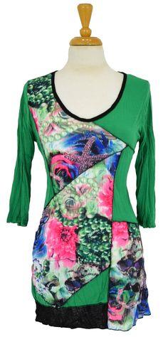 Green Floral Tunic @ilovetunics.com