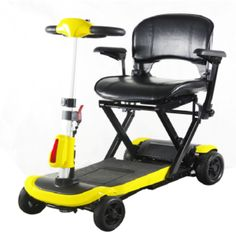Yellow Scooter Genie Quick Easy Fold