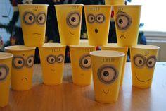 So Sunny. Despicable me party. Fiesta Gru Minion vasos