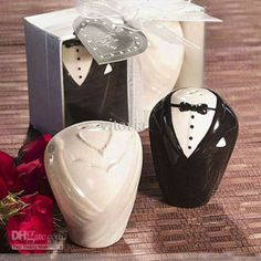 Wholesale Party Gifts - Buy Adorable Bride Groom Salt & Pepper Shaker Wedding Favors Bridal Party Gifts Set of 2 V7041, $1.71 | DHgate