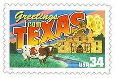 Texas US Postage Stamp