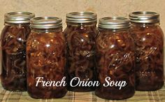 French Onion Soup - Pressure Canned - Recipe is in the comments! Enjoy! Just heat.. Add bread and melt cheese! Bam!