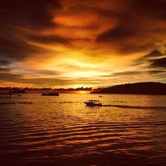 Beautiful Sunset At Segama Waterfront, Kota Kinabalu
