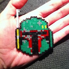 Star Wars Boba Fett hama mini beads by buryyourhead