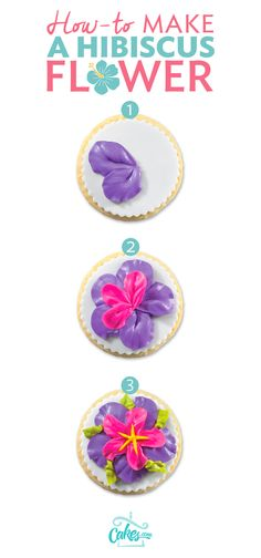 Learn how to make a buttercream hibiscus flower - works great for tropical cakes or a beach party with a luau theme.