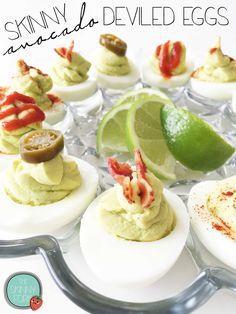 Skinny Avocado Deviled Eggs — The Skinny Fork