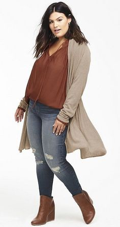 Plus Size Fall Outfit #plussize