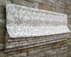 Custom Flat Roman Shade Window Treatment  Designer von DrawnCompany