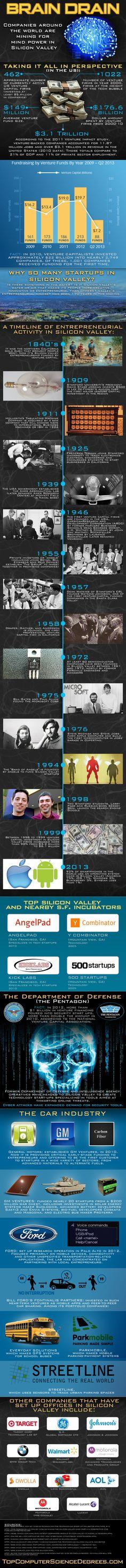 Emprendedores en Silicon Valley #infografia #infographic #entrepreneurship