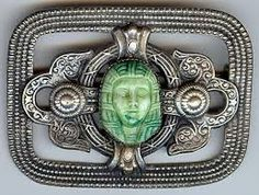 Image result for green glass brooch