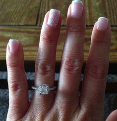 Ritani Cushion-Cut Halo Engagement Ring #RitaniPinterest