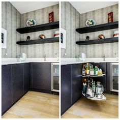 Storage solution: Lemans pullout Perfect base corner cabinet for using that dead space all the way in the back - kidney bean shape pull-outs help utilize the most square footage of that space! See more solutions by following the link in our bio today // #kitchen #design #cabinet #storage #organization #solution #inspiration #beforeandafter #kitchendesignconcepts