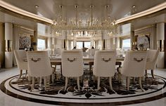 Luxury Dining Room - Exclusive High End Dining Room - That's Living Classic Dining Room, Luxury Dining Room, Luxury Living, Design Hotel, Design Studio, House Design, Design Suites, Yacht Design, Design Room