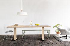 Bold. Een stoere balken tafel met oog voor detail, door om de houten ...