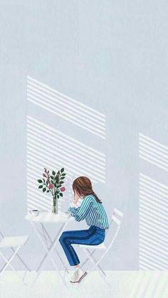 Painting girl illustration inspiration Best ideas - Painting girl illustration inspiration Best ideas Source by belzair Pastel Wallpaper, Cartoon Wallpaper, Girl Wallpaper, Cover Wallpaper, Walpapers Cute, Cute Art, Cover Wattpad, Tmblr Girl, Wow Art