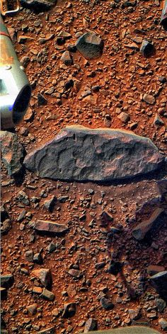 Opportunity: Rock on the Rim | Flickr - Colorized image of a large crater on Mars from raw Mars Express data (from the European Space Agency).