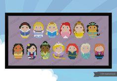 Storybook Princesses parody Cross stitch PDF par cloudsfactory