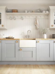Browse images of country Kitchen designs: Laura Ashley Range. Find the best phot… Browse images of country Kitchen designs: Laura Ashley Range. Find the best photos for ideas & inspiration to create your perfect home. New Kitchen, Kitchen Decor, Blue Shaker Kitchen, Small Kitchen Diner, New England Kitchen, Shaker Style Kitchens, French Kitchen, Kitchen White, Kitchen Dining